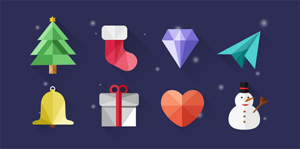 Polygon-Free-Christmas-icons