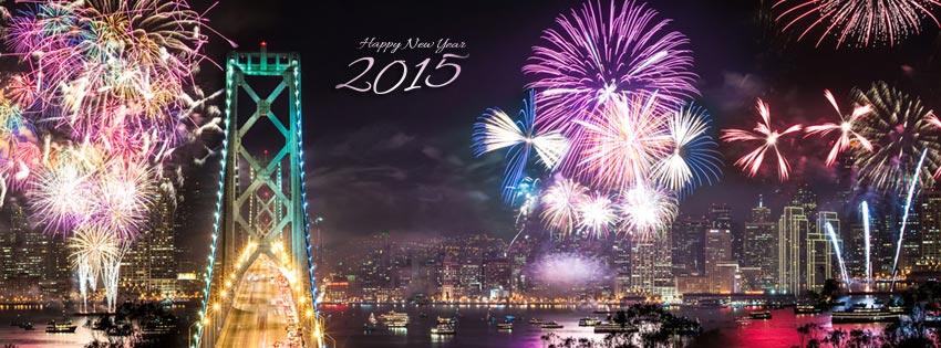 San Francisco fireworks 2015 cover image كفرات راس السنة للفيس بوك 2015 كفرات راس السنة 2015