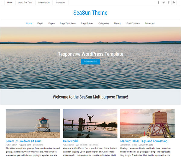 SeaSun-free-wp-theme-2014