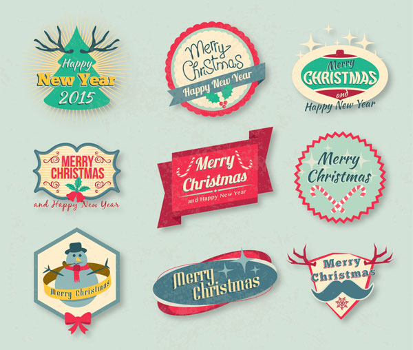 Vintage-Free-Christmas-Badges