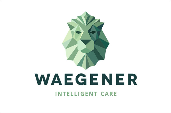 Waegener-Social-Project-Low-Polygon-Logo-Design