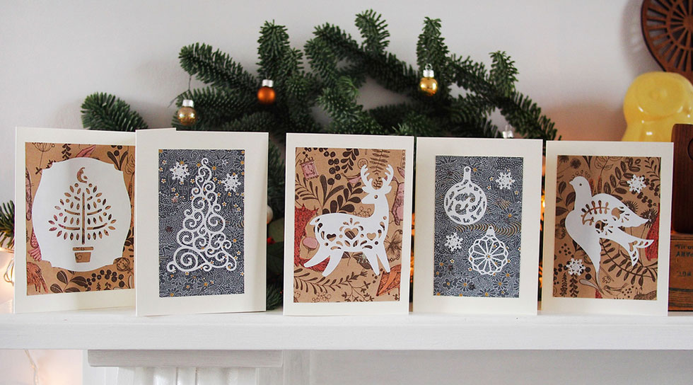 30+ Beautiful Diy & Homemade Christmas Card Ideas For 2014