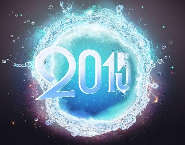 happy new year 2015 wallpaper منشورات راس السنه 2015   منشورات بمناسبة راس السنة