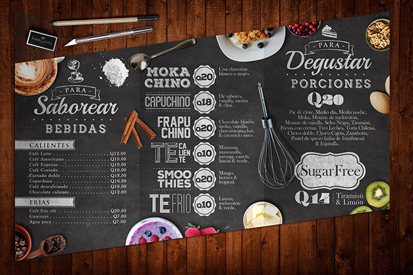 20 beautiful restaurant cafe and food menu designs for inspiration