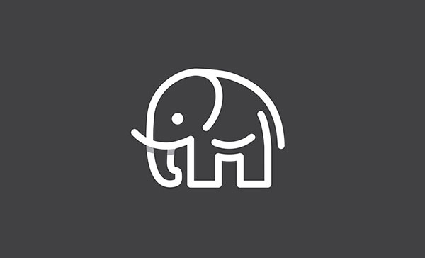 Elephant-Overlaping-Techniques-in-logo-design