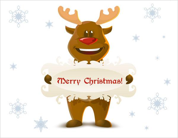 Free Christmas Reindeer vector