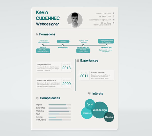 infographic resume template free - 20 best free resume cv templates in ai indesign psd