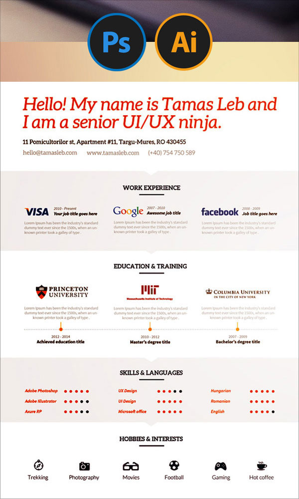 20 best free resume  cv  templates in ai  indesign  u0026 psd formats  u2013 designbolts