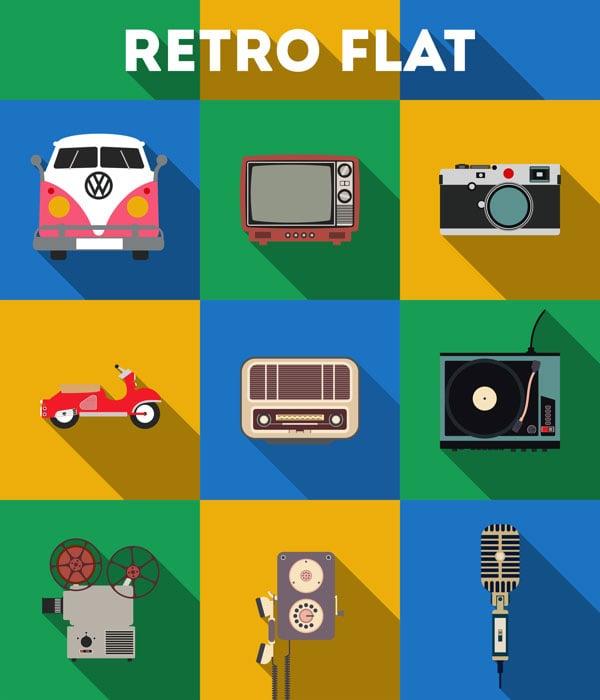 Free-Retro-Flat-Icons-PSD