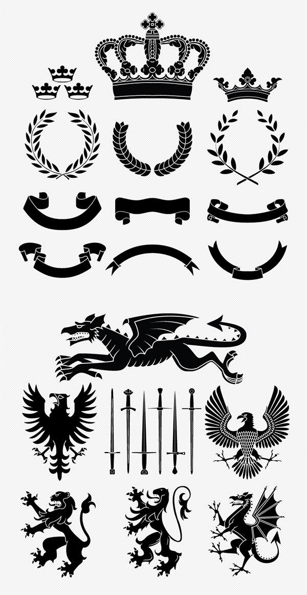 Free-Vector-Banners-&-Heraldry-Vector-Set
