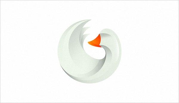 Goose-Gradient-Logo-Design-trend-2015