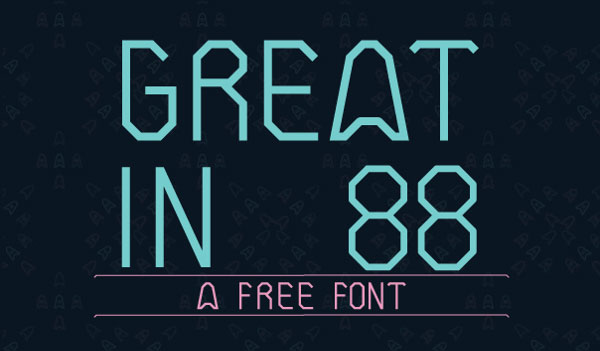 Great-In-88---Free-Font-Family-for-technology-related-design-projects