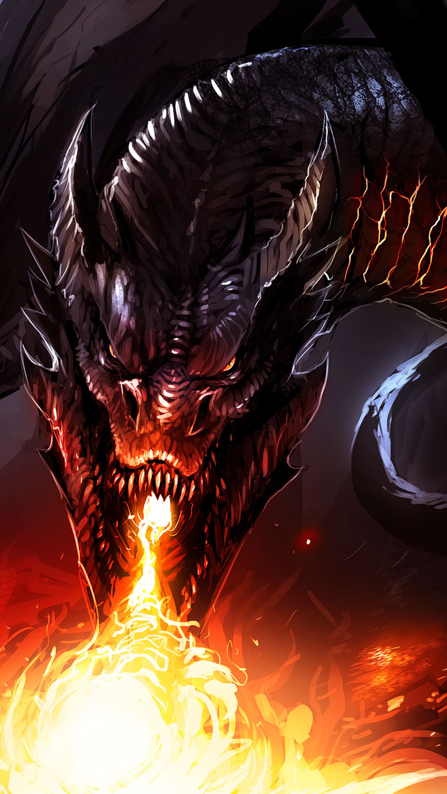 Hobbit-3-Smaug-iPhone-5-Wallpaper-Retina