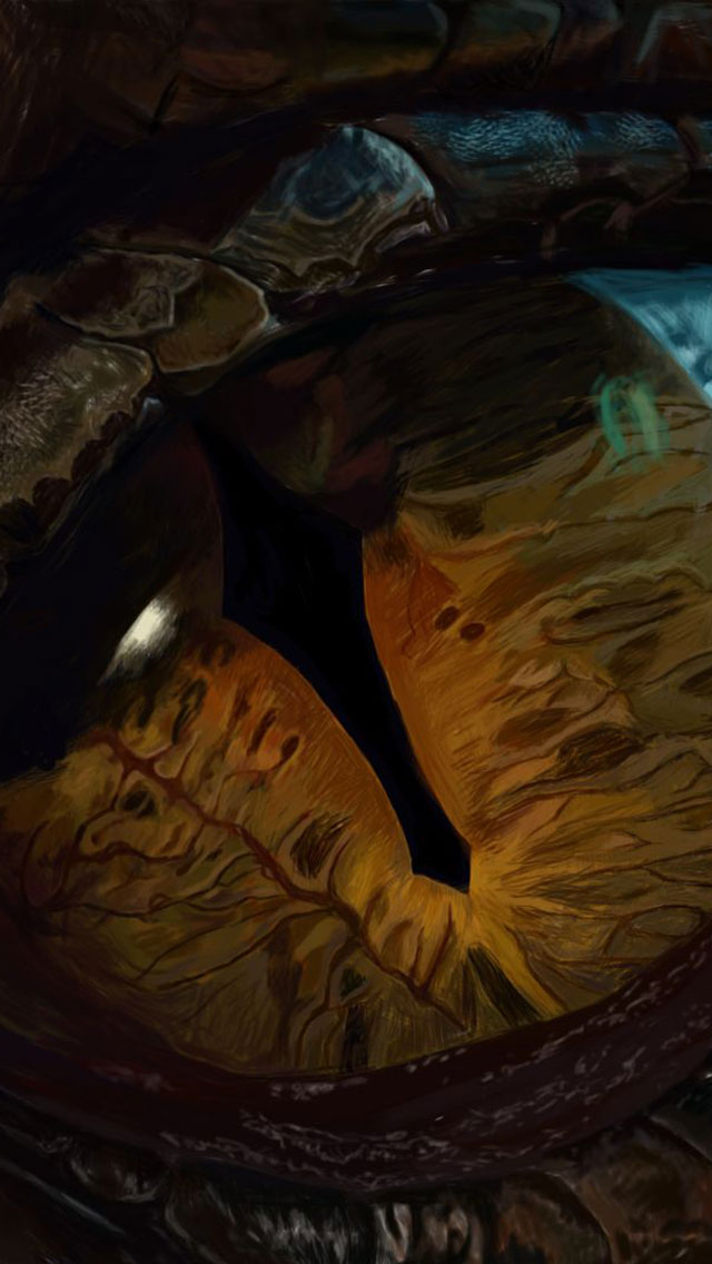 Hobbit-3-Smaug-iPhone-5-Wallpaper
