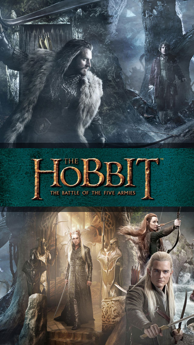 Hobbit-3-The-Battle-of-the-Five-Armies-iPhone-5-Wallpaper-Retina