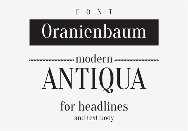 Oranienbaum Perfect Modern Free Font For Logo Design