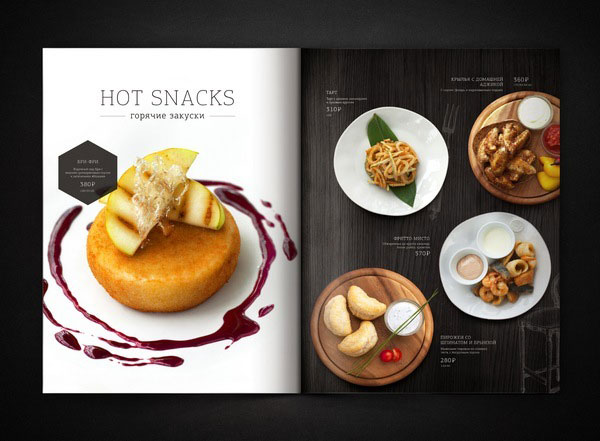 Gut bekannt 20+ Beautiful Restaurant, Cafe and Food Menu Designs for Inspiration YS14