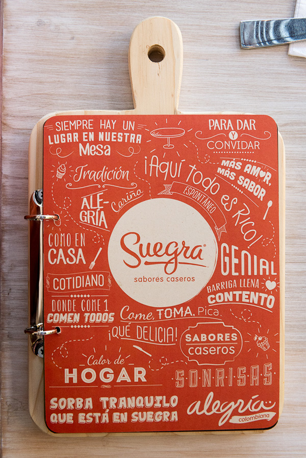 suegra sabores caseros creative resturant menu design - Restaurant Menu Design Ideas