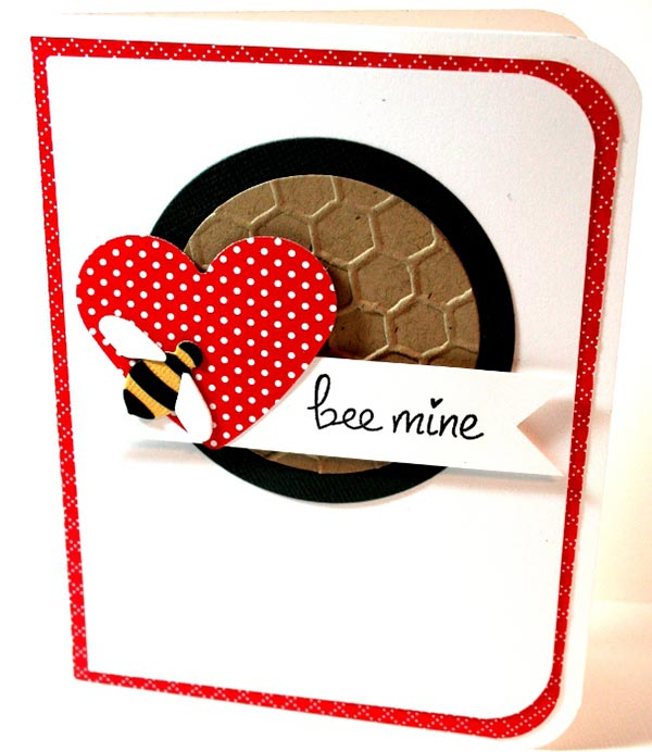 Bee Mine Handmade Card For Valentine