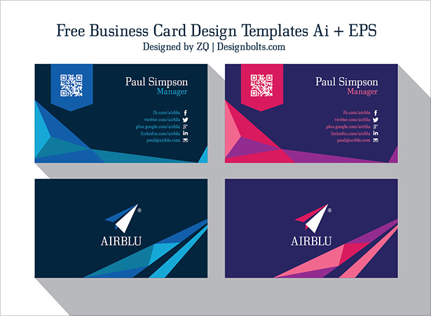 Free business card design templates free professional premium vector business card design templates ai cheaphphosting Choice Image