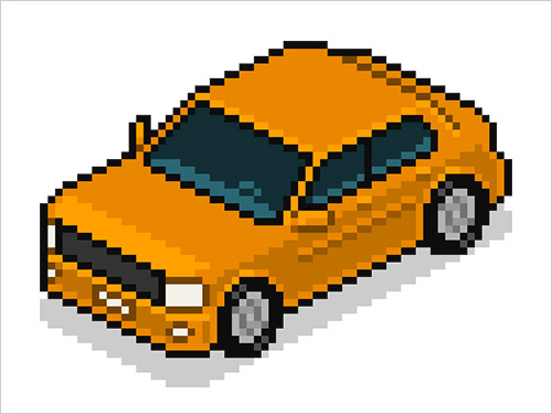 Isometric-Pixel-Art-Vehicle-Adobe-Photoshop-CS6-Tutorial