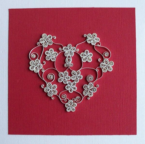 Paper-curl-Heart-Valentine's-day-card
