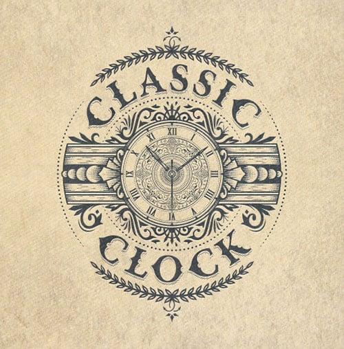 Classic-Clock-logo-design-Inspiration