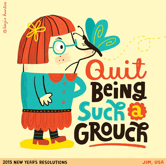 Colorful Hand Lettering Illustrations of 2015 Resolutions (11)