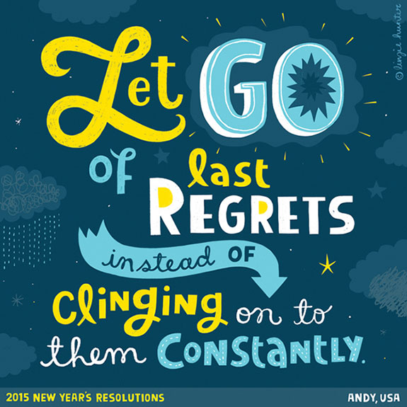 Colorful Hand Lettering Illustrations of 2015 Resolutions (12)