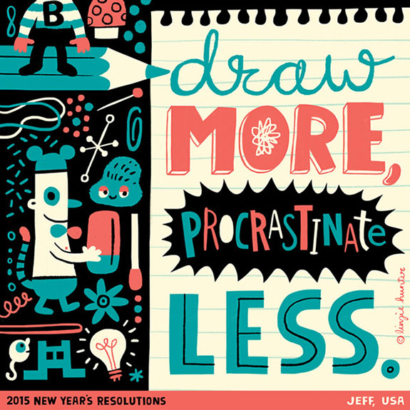 Colorful Hand Lettering Illustrations of 2015 Resolutions (18)