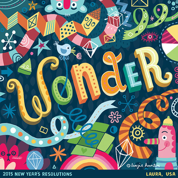 Colorful Hand Lettering Illustrations of 2015 Resolutions (21)