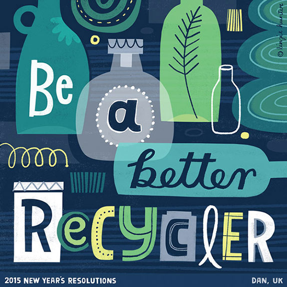 Colorful Hand Lettering Illustrations of 2015 Resolutions (7)