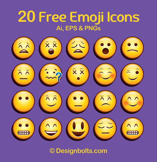 cool free vector emoticons  emoji  icons in eps  ai  u0026 pngs