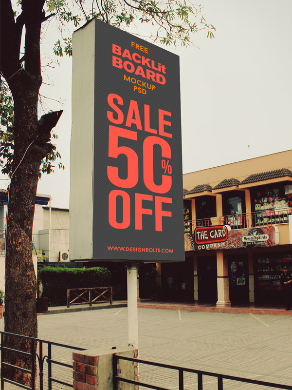 Free-Outdoor-Advertising-Backlit-Board-Shop-Sign-Mockup-PSD