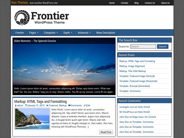 Frontier-multi-purpose-HTML5-CSS3-WordPress-theme-2015