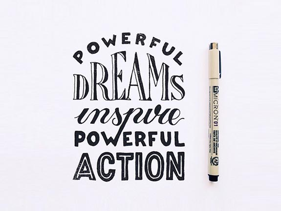 Hand Lettering With inspirational Sayings (33)