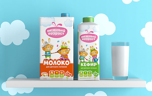 Nezhniy-vozrast-Cute-Dairy-Products-Packaging-Design