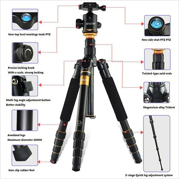 AFAITH-Professional-SLR-Camera-Tripod-Monopod-3