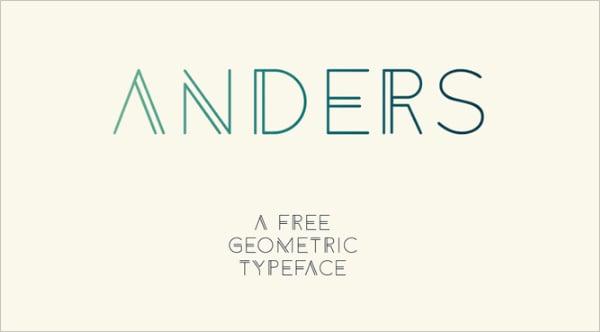 6 Anders Free Gemetric Font
