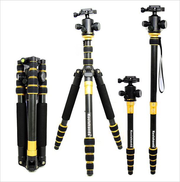 Koolehaoda-Kq-999-Lightweight-Travel-Camera-Tripod