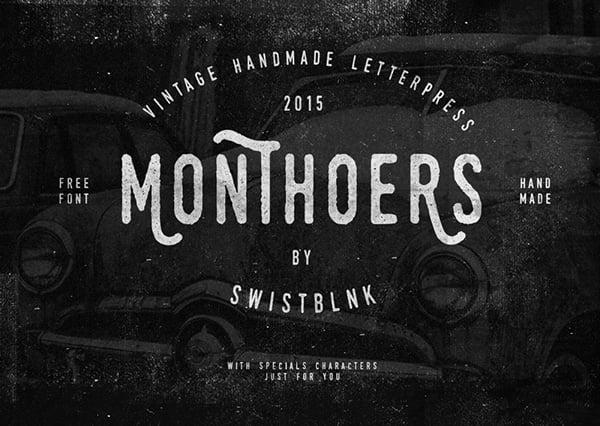 Monthoers-Free-Handmade-Font