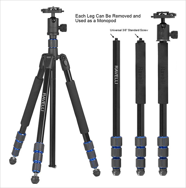 Ravelli-Professional-Ball-Head-DSLR-Camera-Photo-Tripod-for-Travel-2