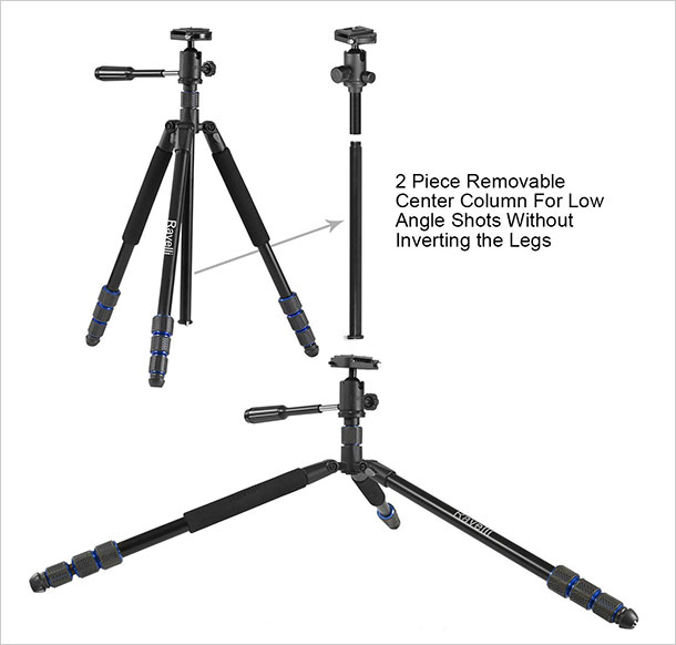 Ravelli-Professional-Ball-Head-DSLR-Camera-Photo-Tripod-for-Travel-3
