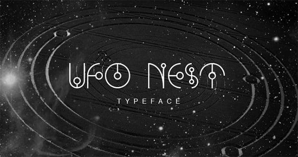UFO-NEST---Free-Font