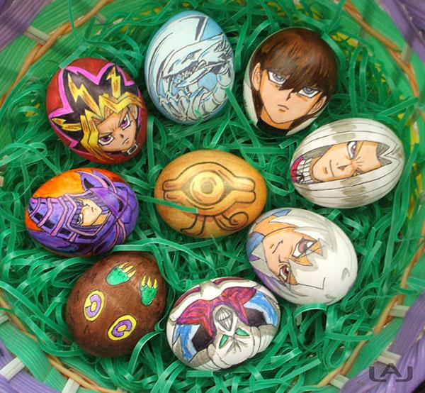 Yu-gi-oh-Painted-Eggs