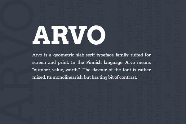 arvo-Web-font