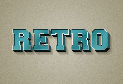 3D-Retro-Text-Effect-Photoshop-Tutorial