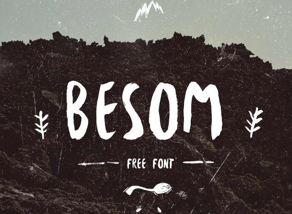 Besom-FREE-Brush-font