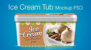 Free-Ice-Cream-Tub-Packaging-Design-Template-&-Mockup-PSD-File