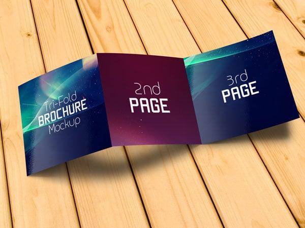 fold out brochure template - free square tri fold brochure mockup psd files